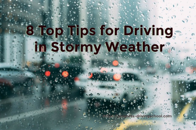 Top tips for driving in wind and rain
