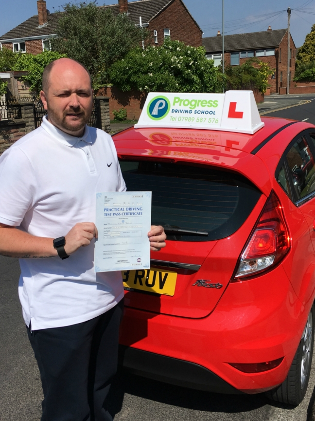 Michael passed his test with Progress Driving School