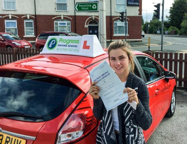 Lauren White passed with Progress Driving School