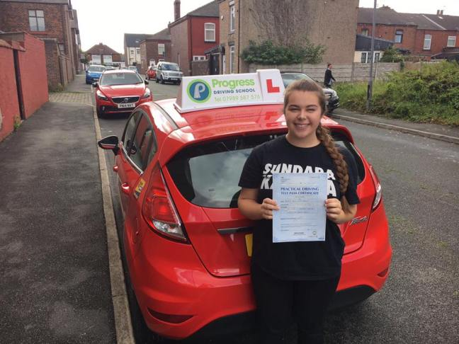 Rachel passed her driving test after learning with Progress Driving School.