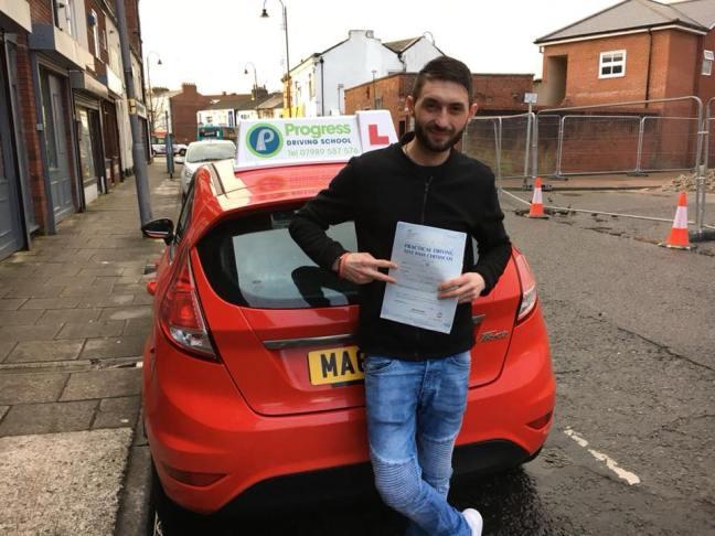 Ionut-Vasile Ciumala passed his driving test with Progress Driving School
