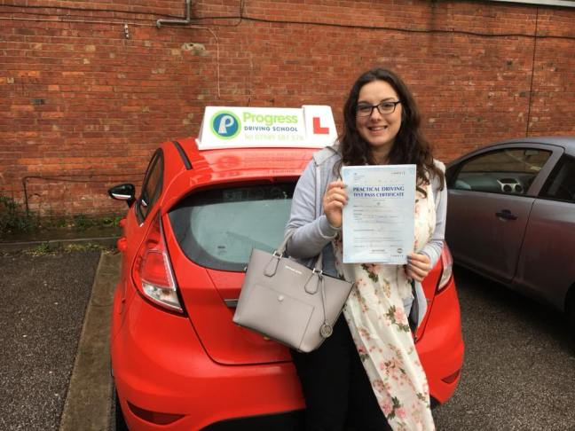 Laura passed her driving test with Progress Driving School.